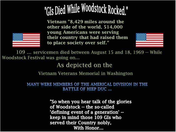 Woodstock Vs Vietnam